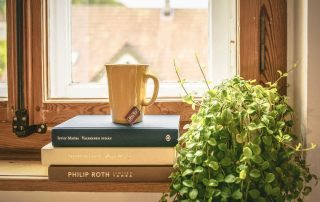 Plants books apartment