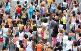 crowd, people, rush
