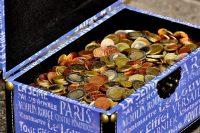 hidden, treasure, money, coins, chest