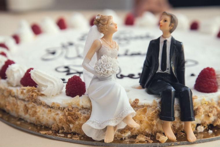 bride, groom, cake, wedding, couples