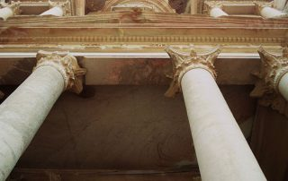 building, columns, treasury