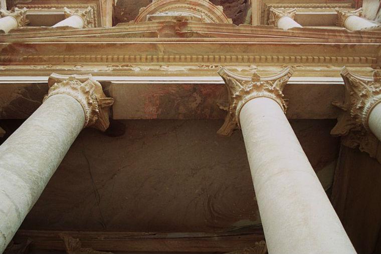 building, columns, treasury